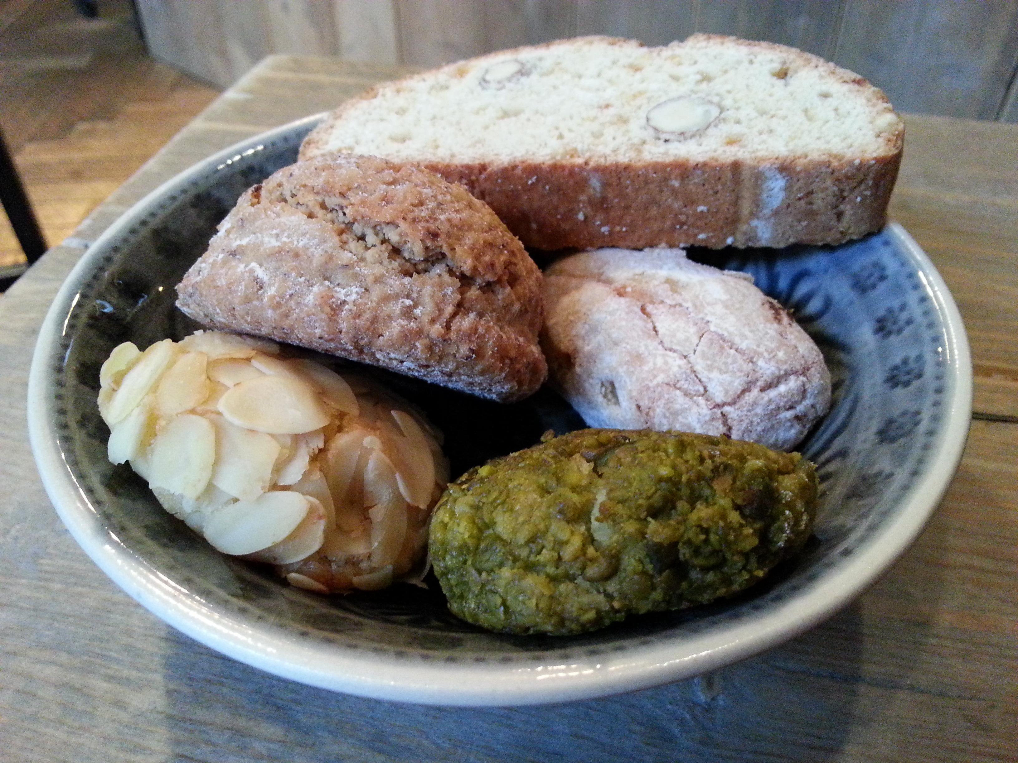 5 verschiedene italienische Kekse