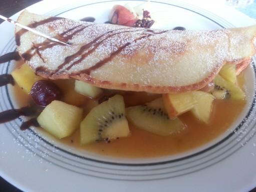 Omelette mit warmen Früchten. Himmlisch im Winter!